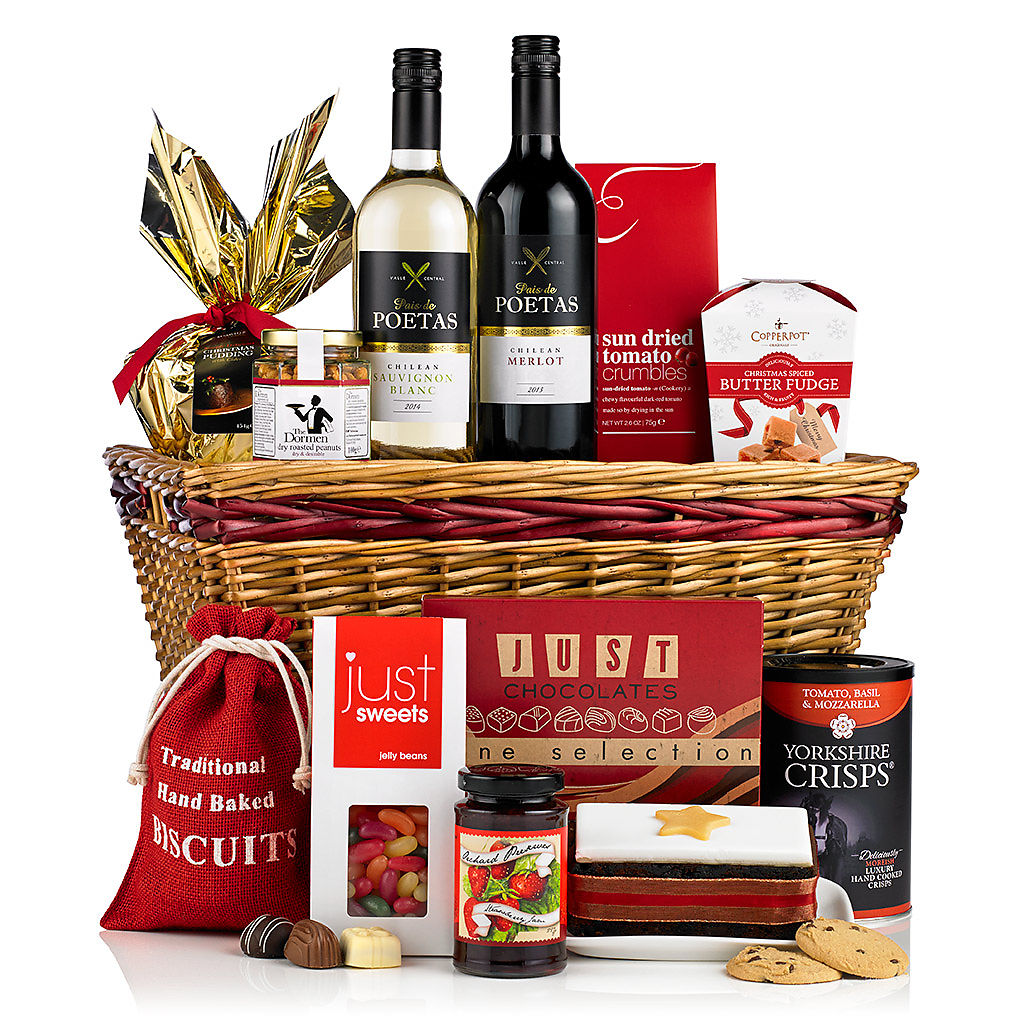 christmas-cracker-basket Corporate Christmas Hampers