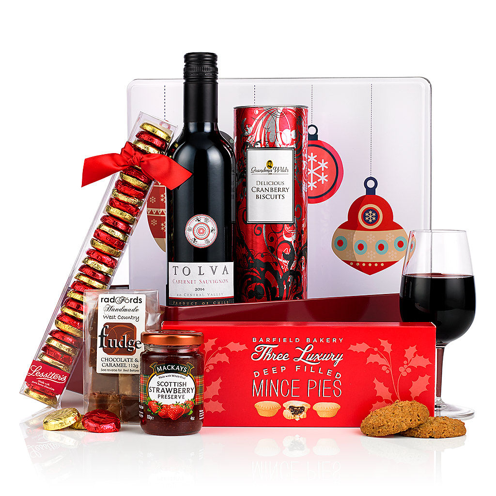 Festive Selection Tin (£24.99) Corporate Christmas Hampers