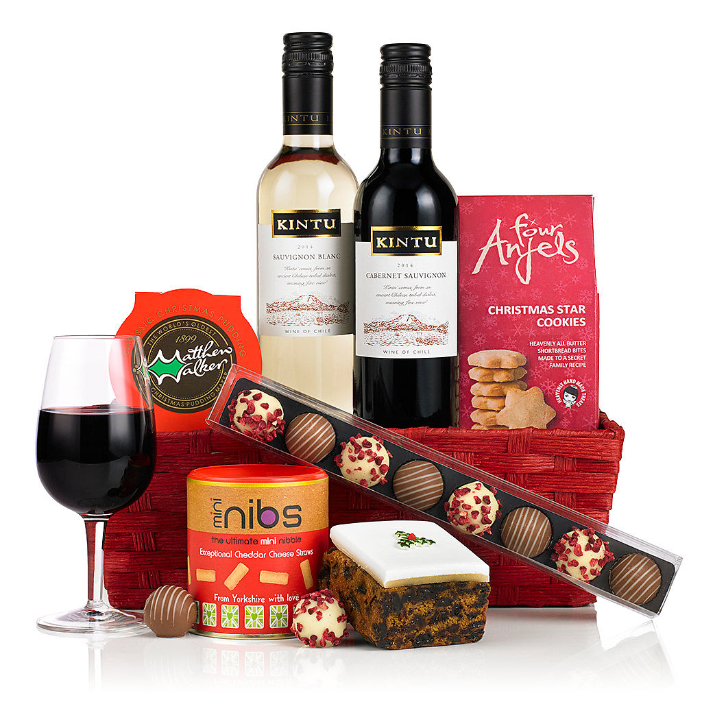 Merry Christmas Basket (£29.99) Corporate Christmas Hampers