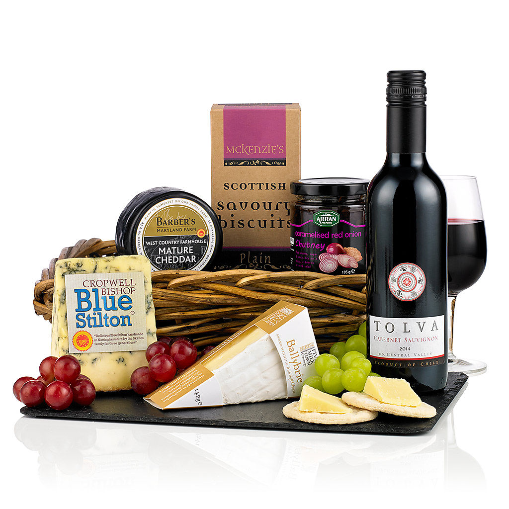 Wine & Cheese Selection (£29.99) Corporate Christmas Hampers