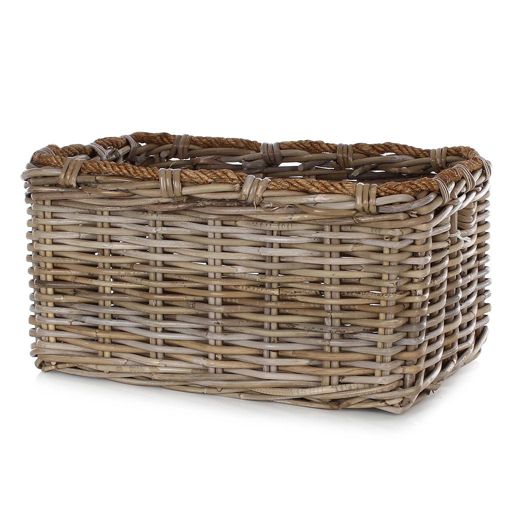 Kubu Storage Basket with Rope Rim