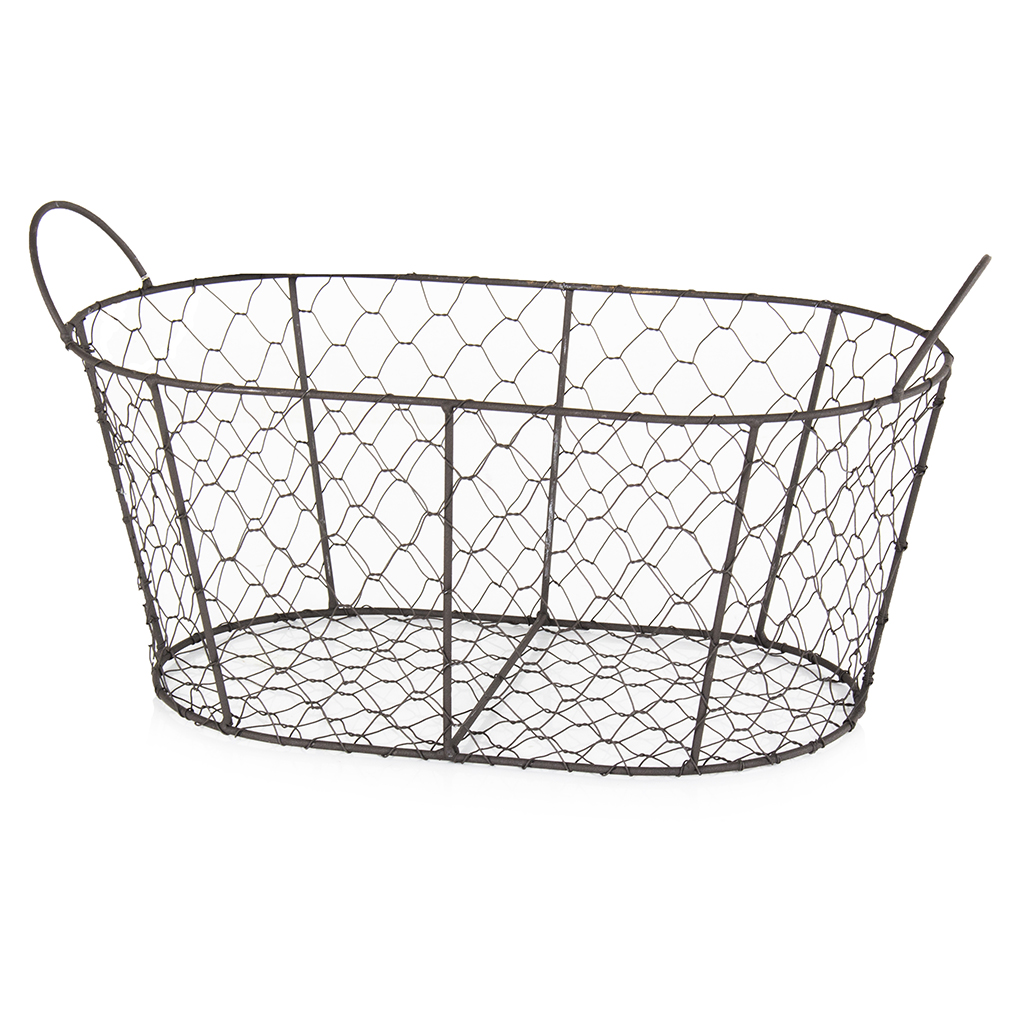 Cheese and Wine Hamper Wire Basket