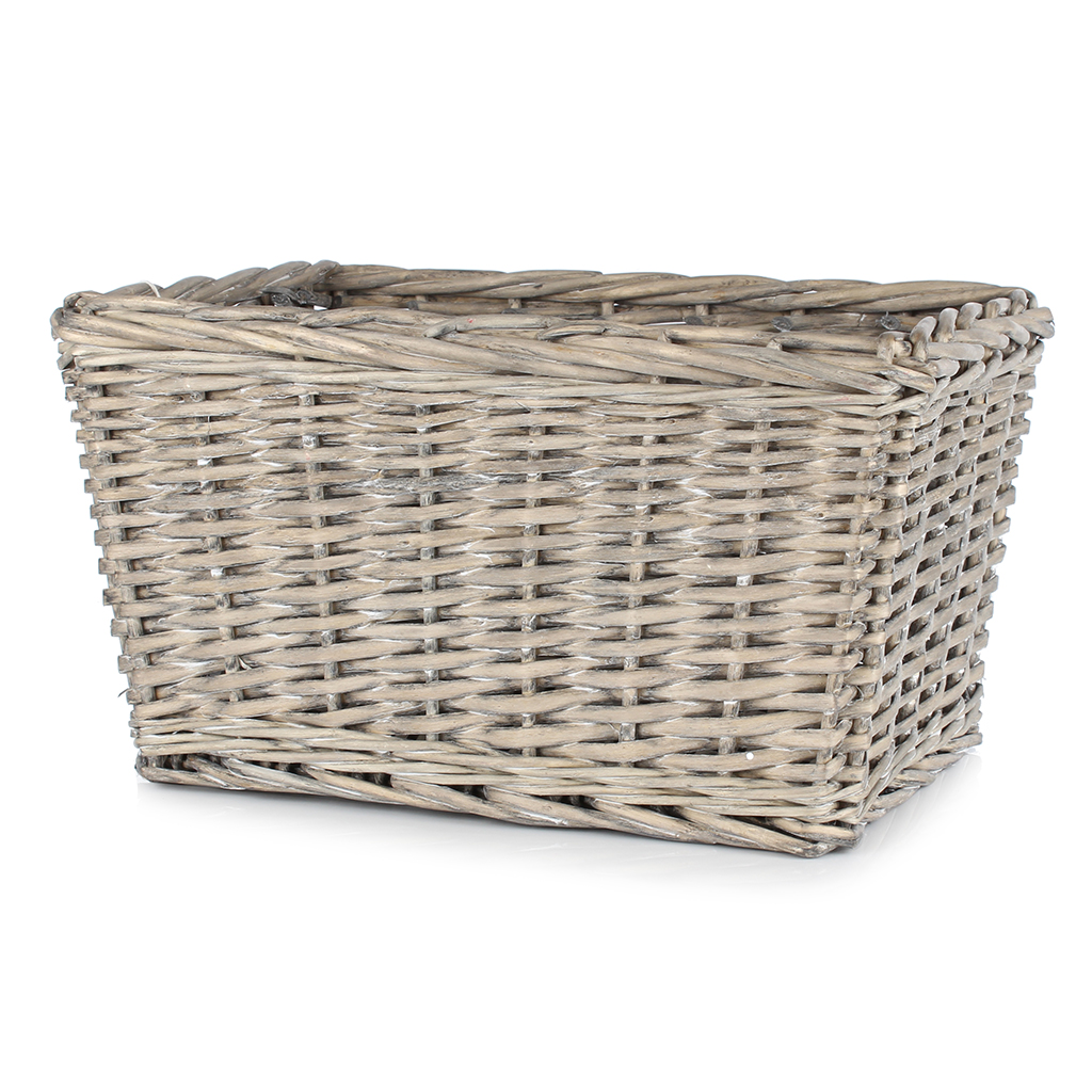 Whitewash Kubu Tapered Basket