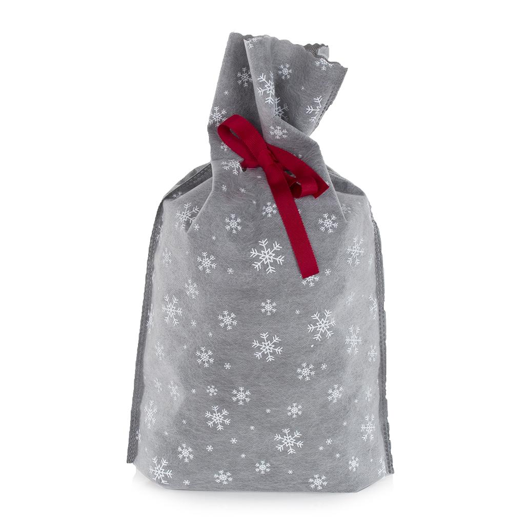 Grey Snowflakes Sack