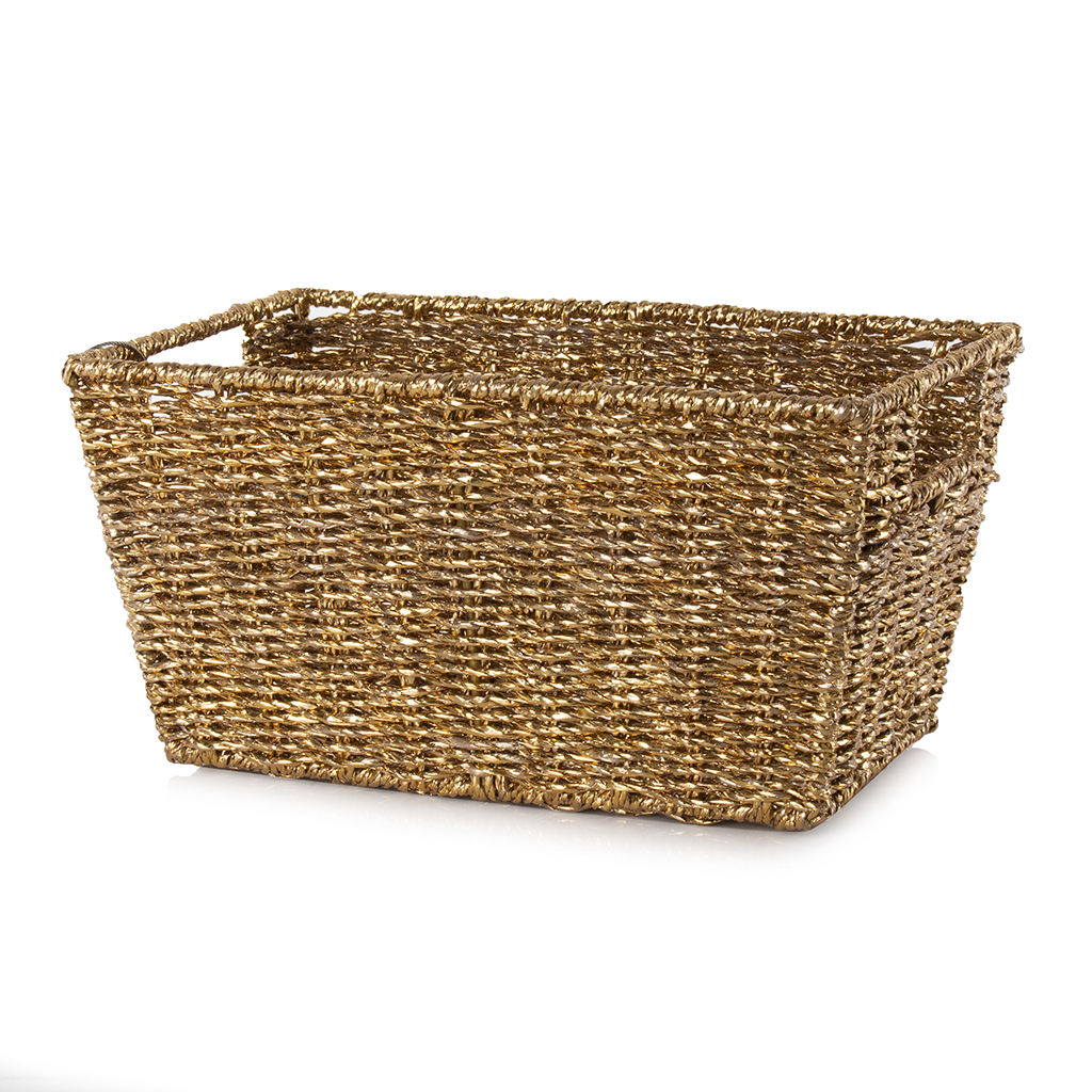 Small Gold Storage Basket