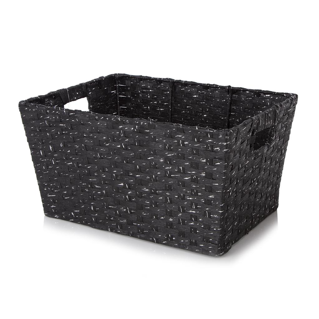 Black & Silver Storage Basket