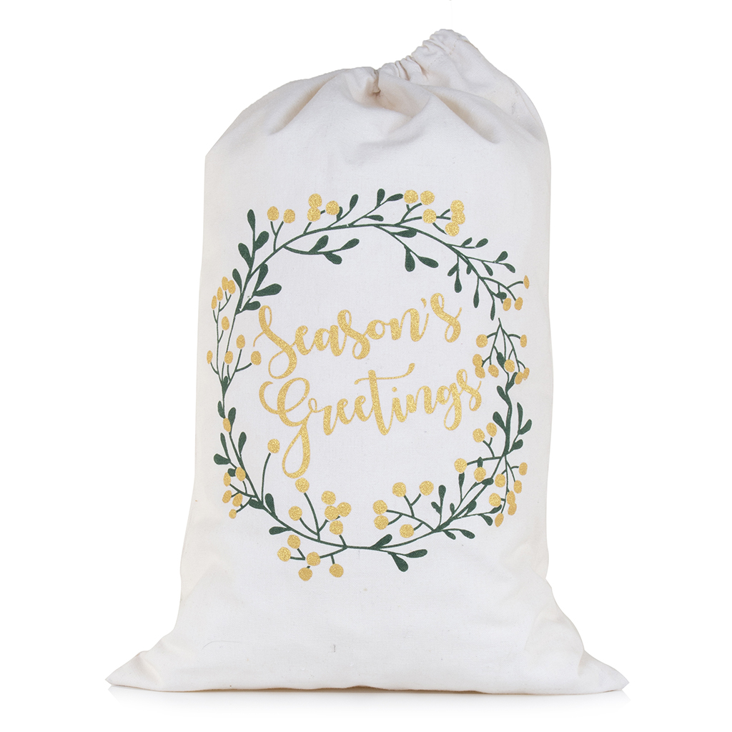 Natural Sack with Wreath
