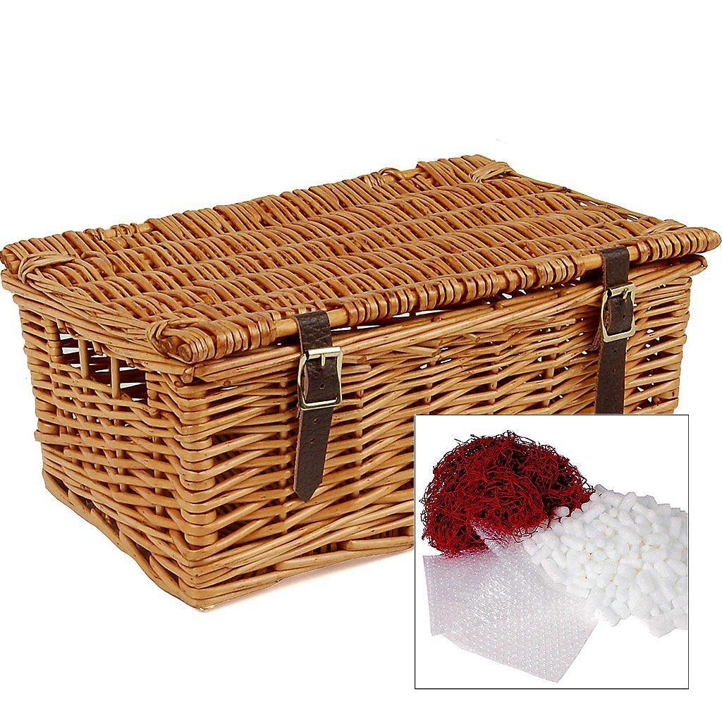 "12"" Traditional Lidded Hamper & Packaging"
