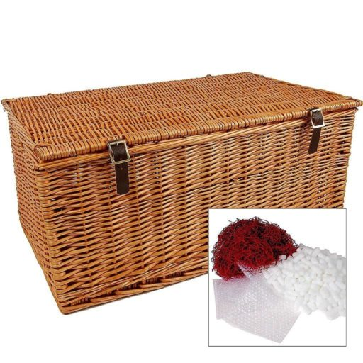 "27"" Traditional Lidded Hamper with Packaging"