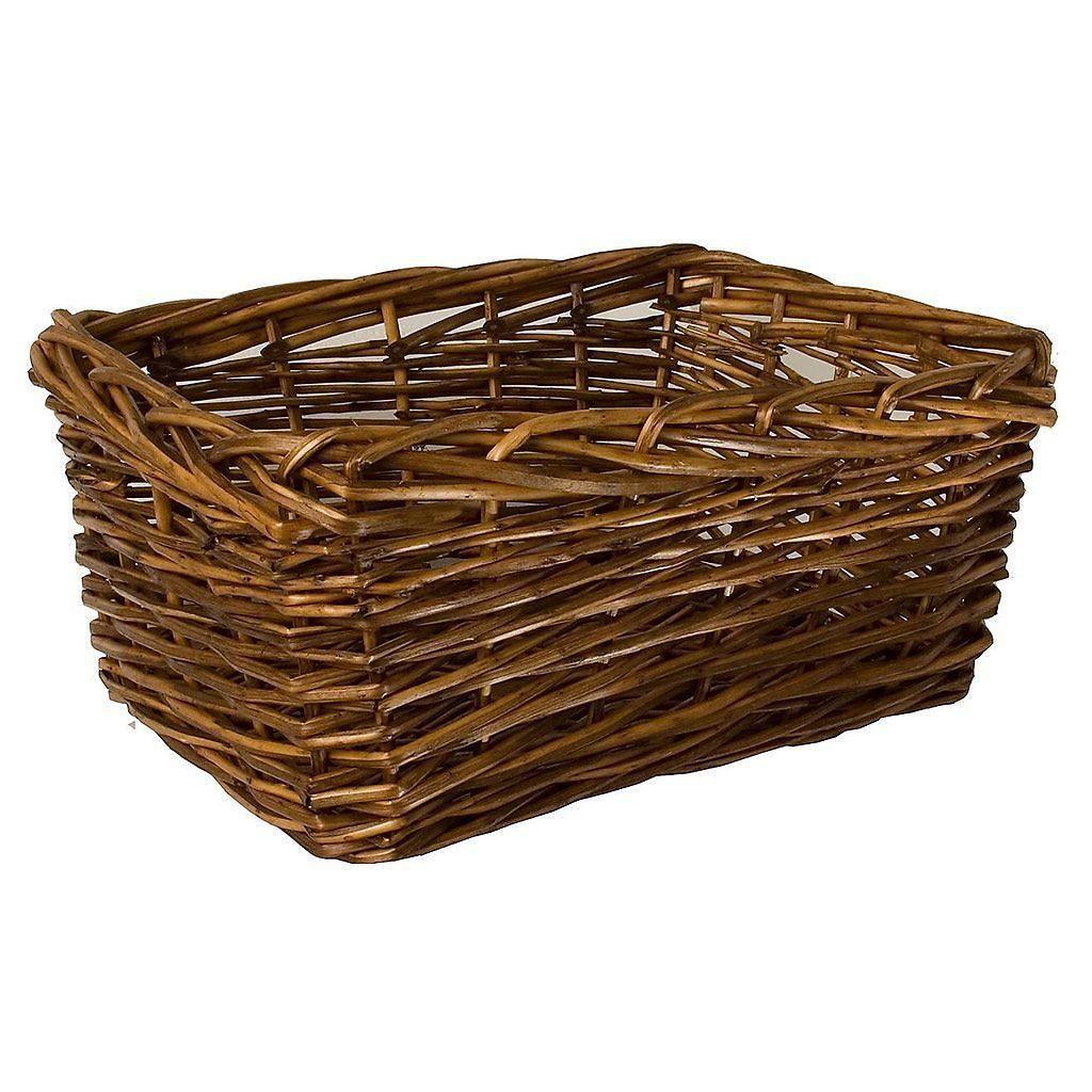Square Edged Willow Basket (Medium)