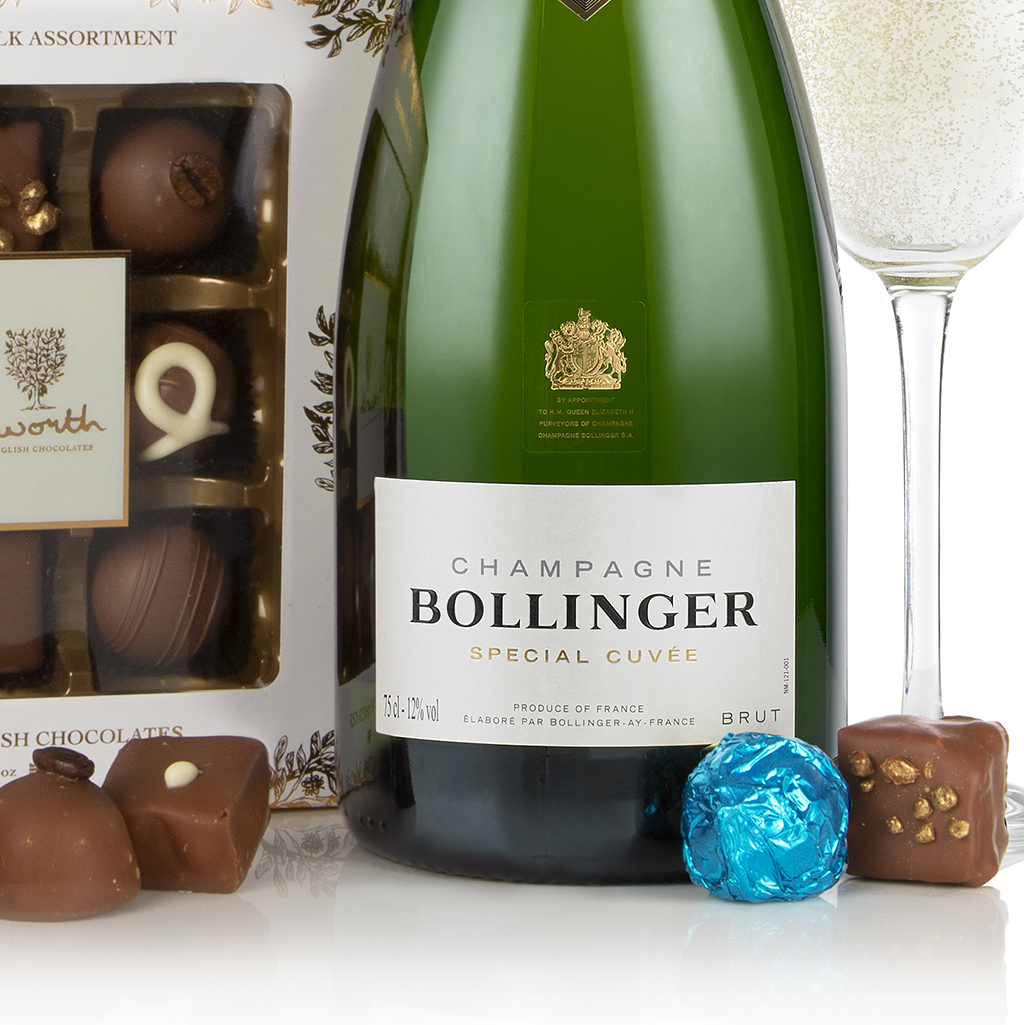 Bollinger and Chocolates Gift