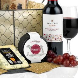 Cheese and Wine Basket Hamper