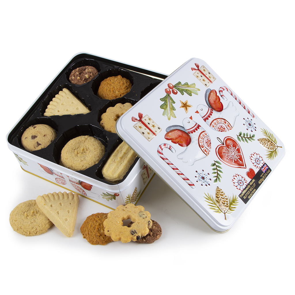 Christmas Biscuit Tin Gift