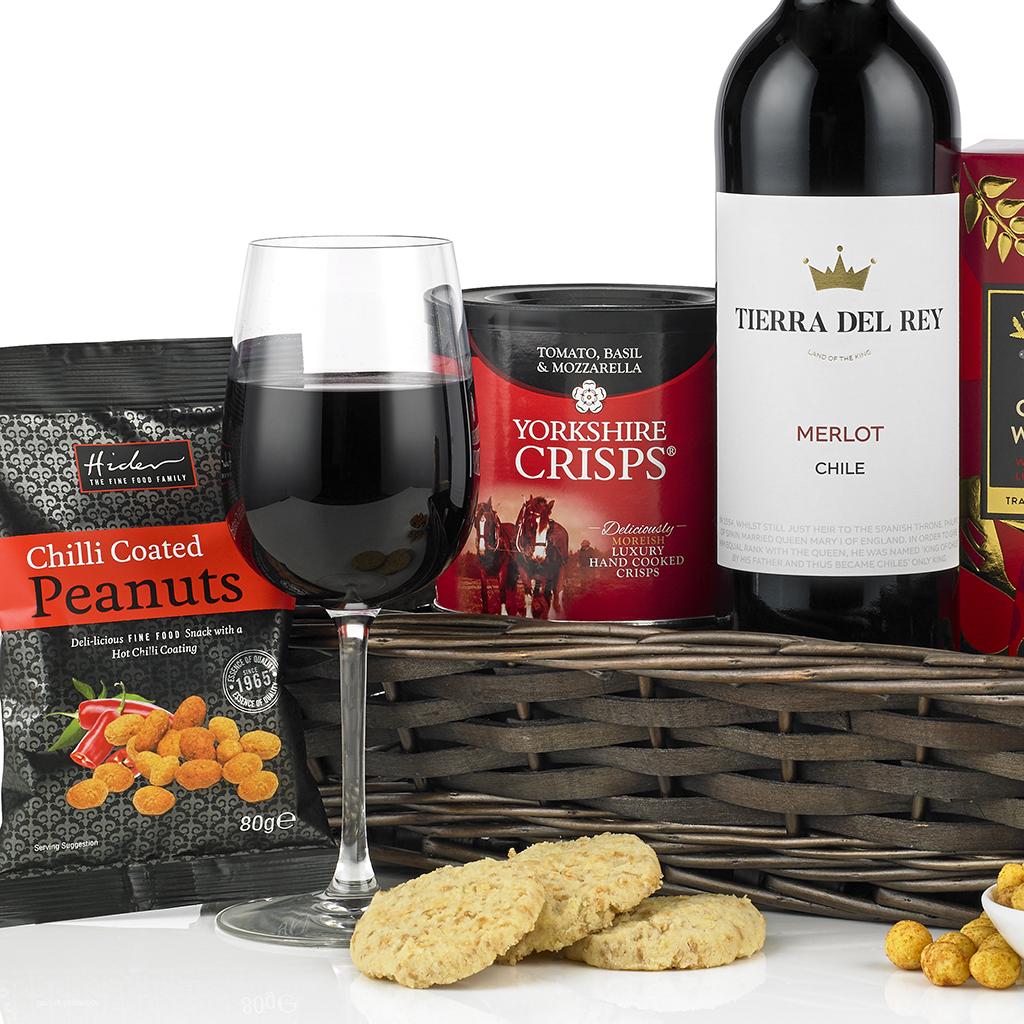 Red Wine Treats Tray Gift