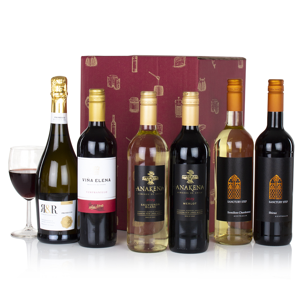 Six Wines in a Box Gift