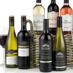 Twelve Wines in Wicker Gift