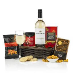 White Wine Treats Tray Gift